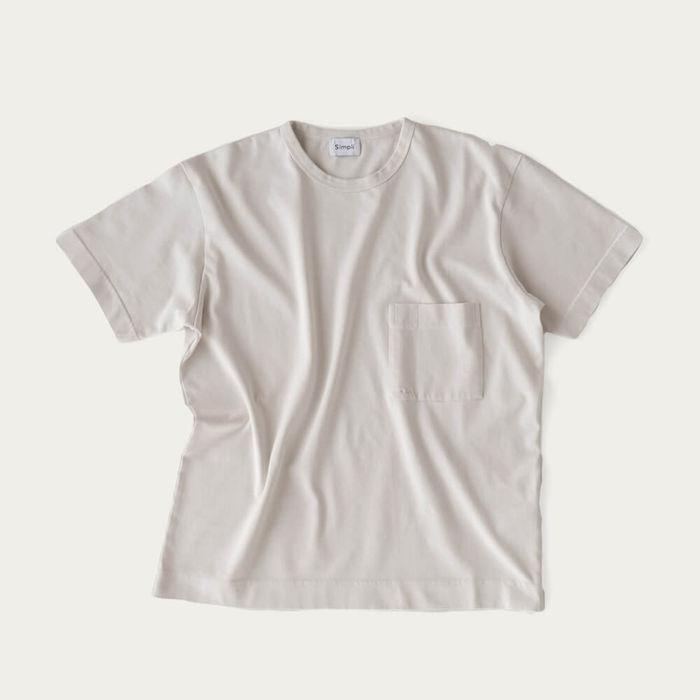 Ecru Relaxed Crew Neck T-Shirt | Bombinate