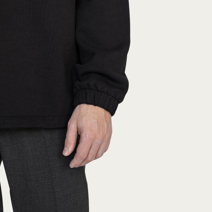 Black Half-Zip Sweatshirt | Bombinate
