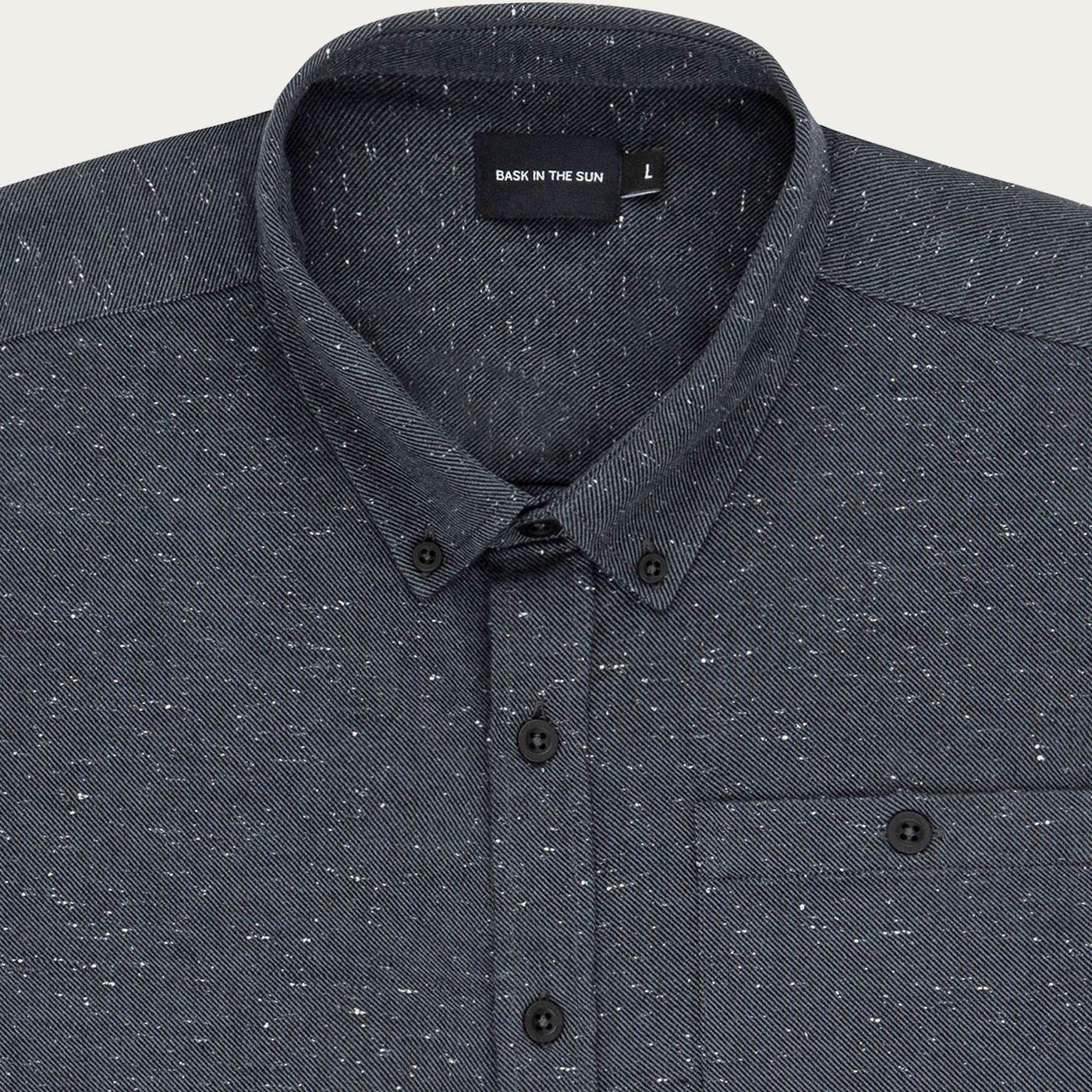 Anthracite Iraty Asymmetric Pockets Shirt | Bombinate