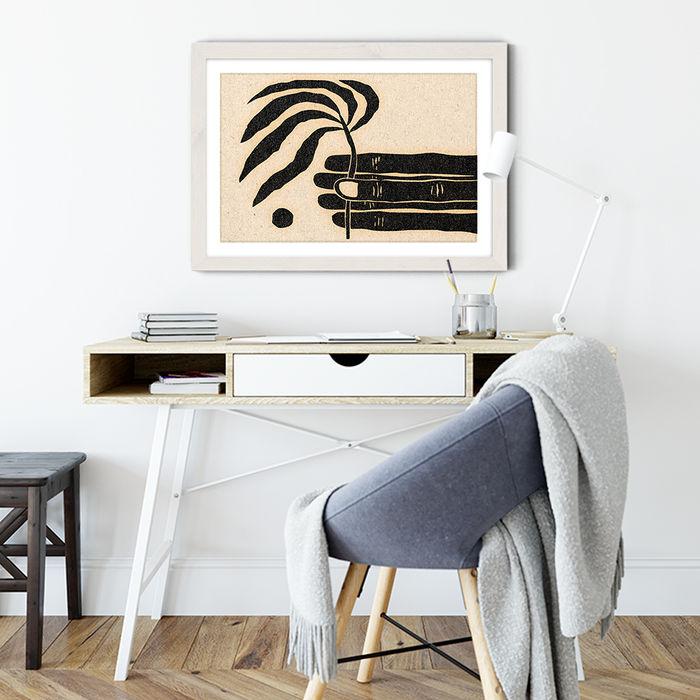The Plantling Art Print White Frame   Bombinate
