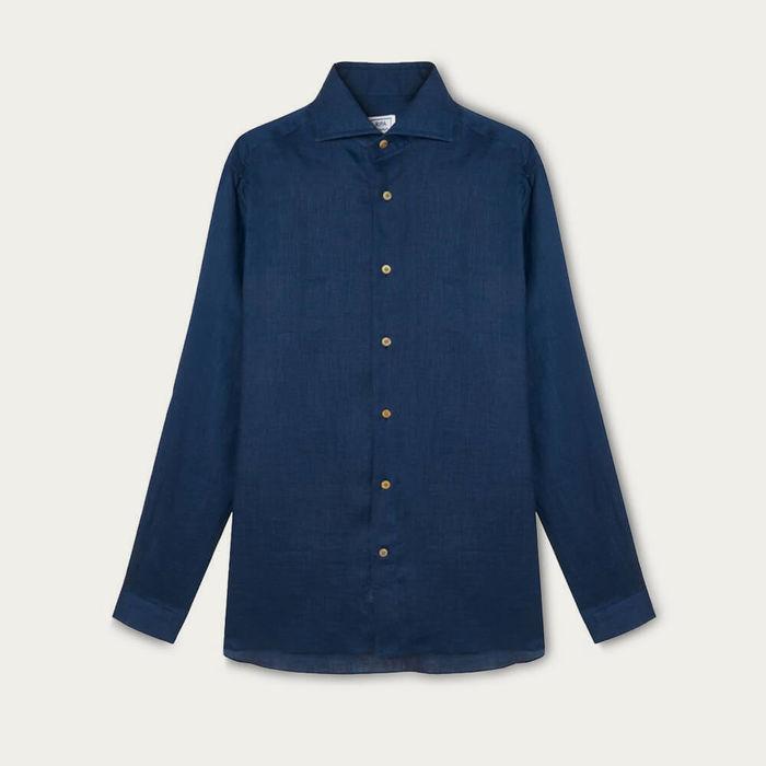 Blu Notte Camicia Elba Shirt | Bombinate