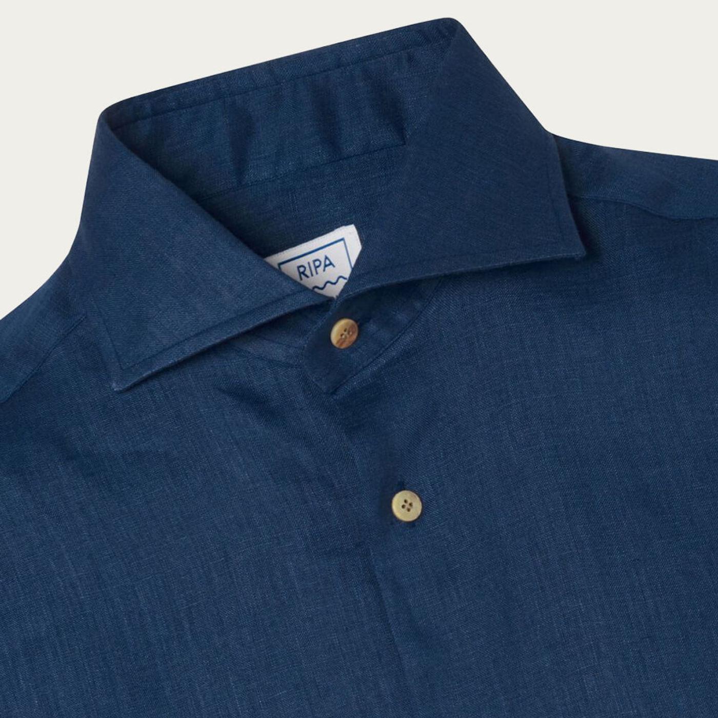 Blu Notte Camicia Elba Shirt   Bombinate