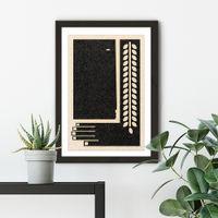 Parts of Me Art Print Black Frame   Bombinate