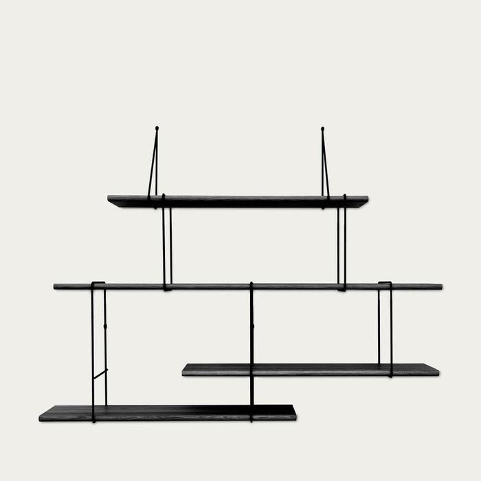 Black / Black LINK Set 2 Shelf  | Bombinate