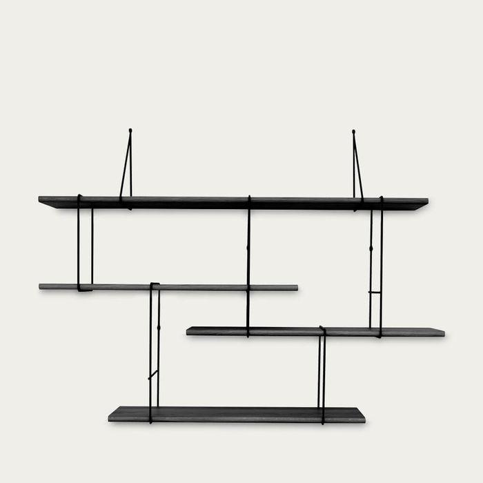 Black / Black LINK Set 1 Shelf  | Bombinate