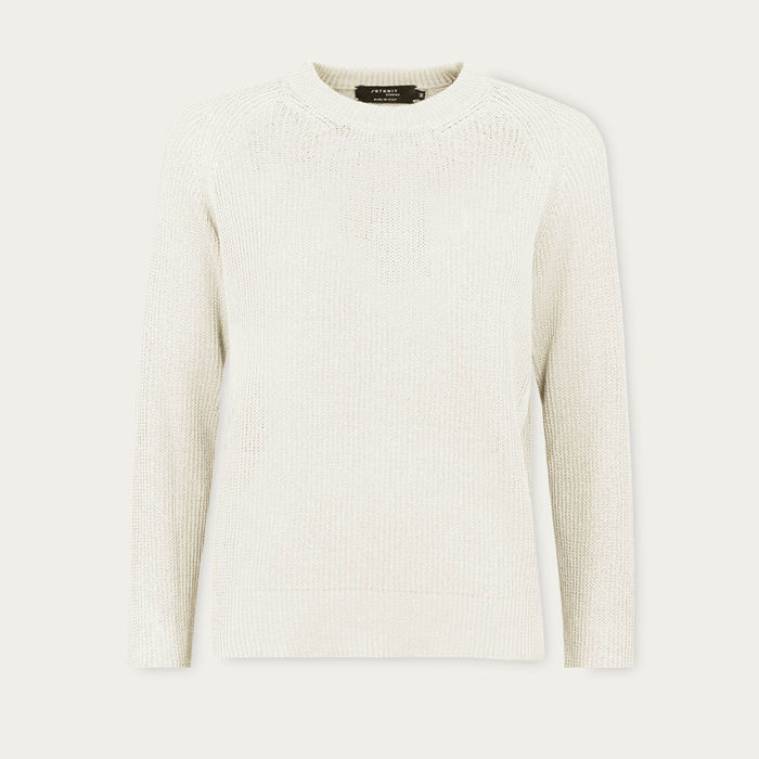 Ivory The Linen Cotton Sweater | Bombinate