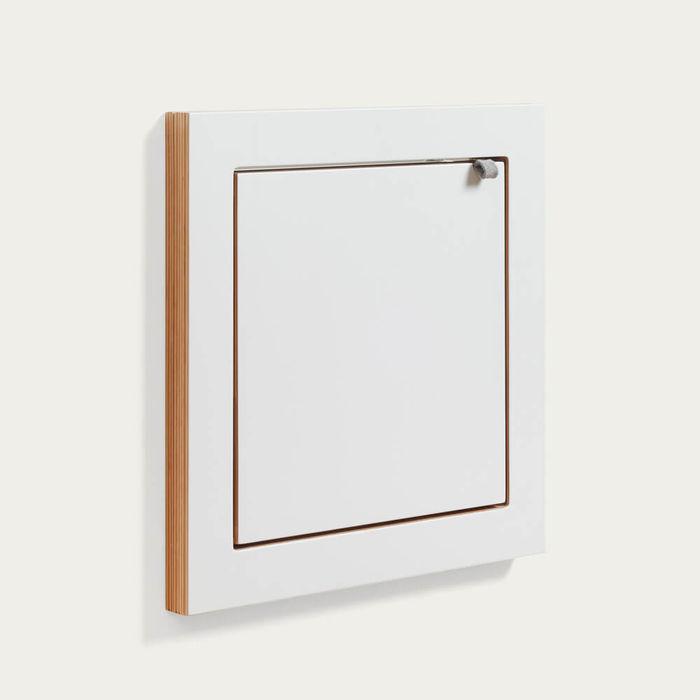 White Fläpps Vanity Mirror   Bombinate