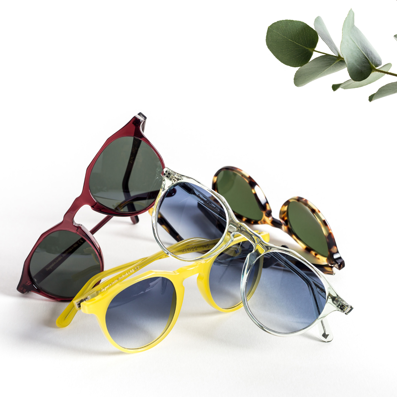 Limoncello Kallio with Blue Gradient Lenses Sunglasses | Bombinate