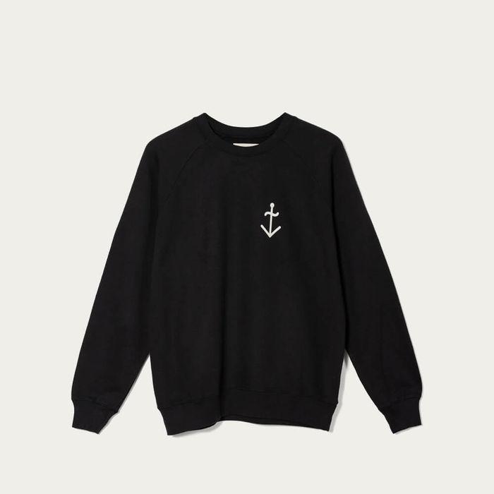 Black/Ecru Chuna Classic Logo Printed Sweatshirt | Bombinate