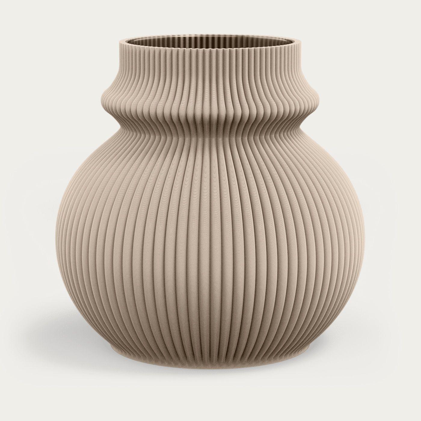 Lark Beige Zayl 102g Vase | Bombinate