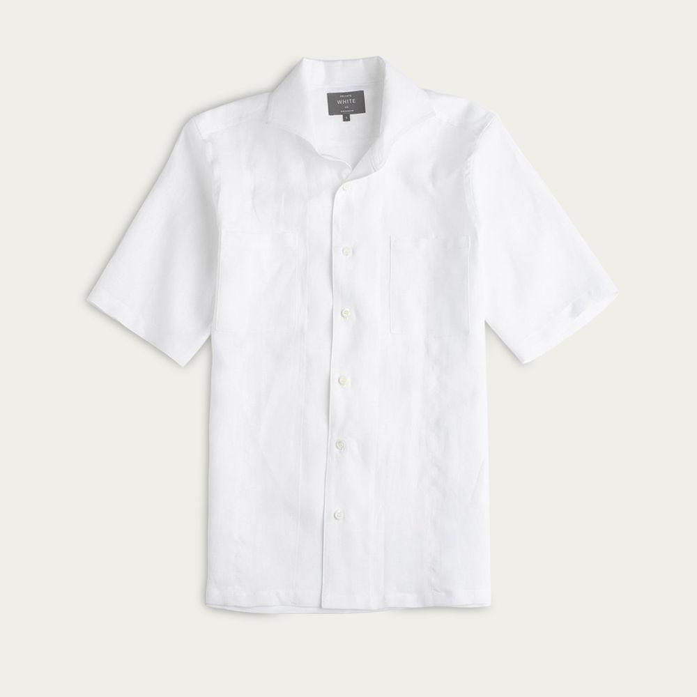 White Linen Maxwell SS Cutaway Shirt  | Bombinate