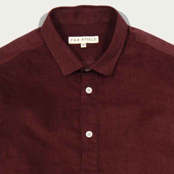 Bitter Chocolate Pocket Pop Over LS Shirt Corduroy | Bombinate