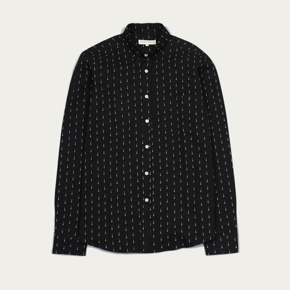 Blue Graphite Cognito LS Shirt Snowfall  | Bombinate