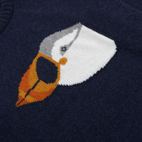 Cashmere Mix Puffin Drop Shoulder Knit | Bombinate