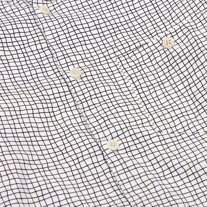 Egret Casual Button Down LS Shirt Terrain Check   Bombinate