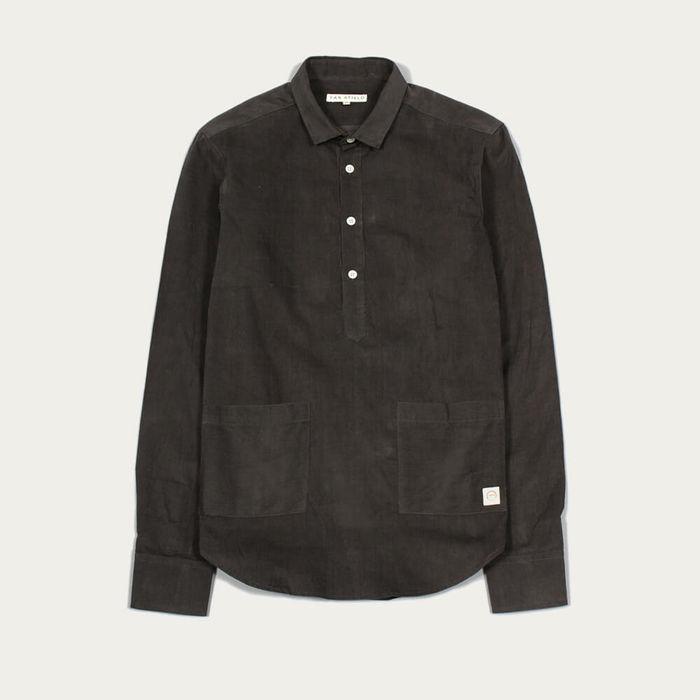 Peat Pocket Pop Over LS Shirt Corduroy | Bombinate