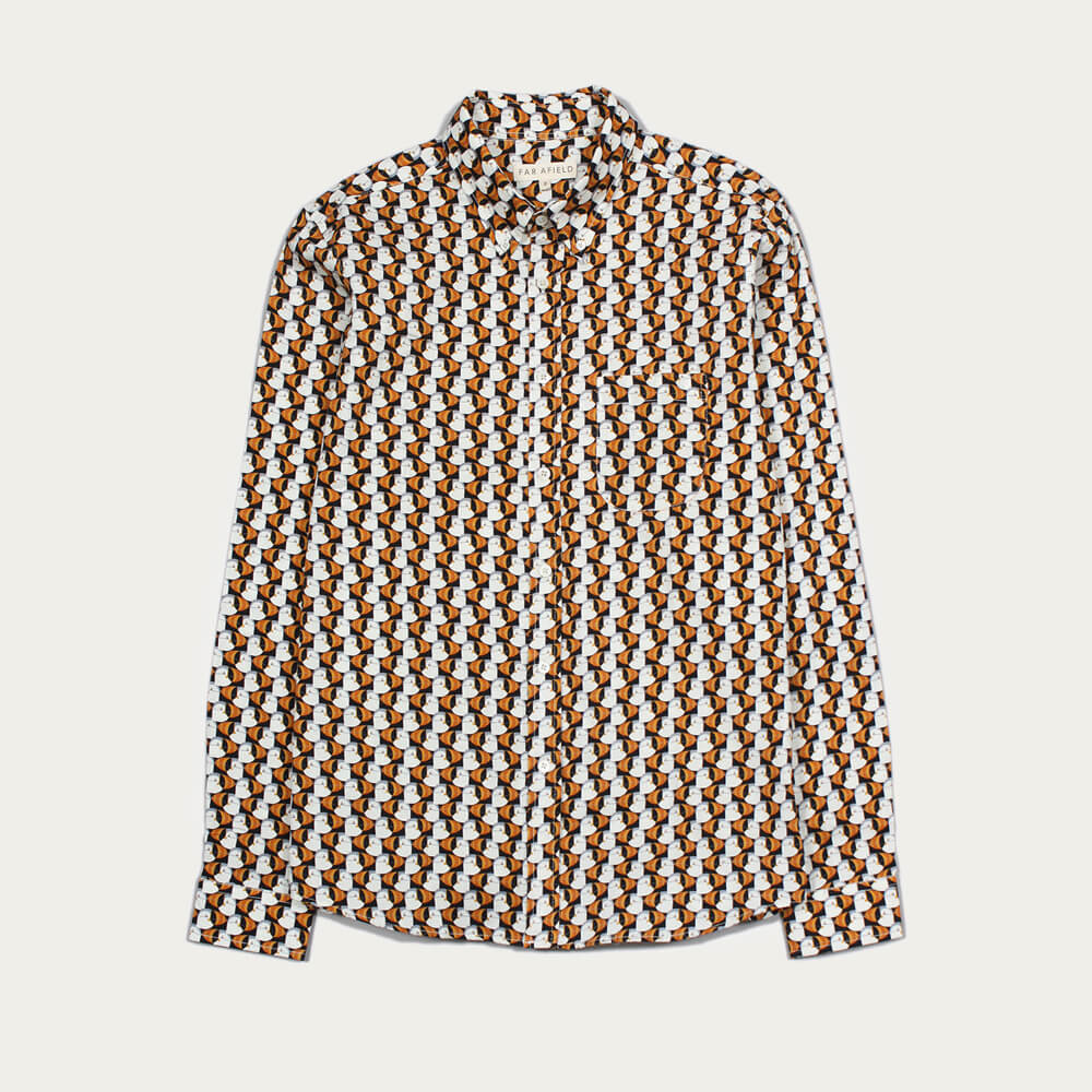 Puffin Mod Button Down LS Shirt  | Bombinate