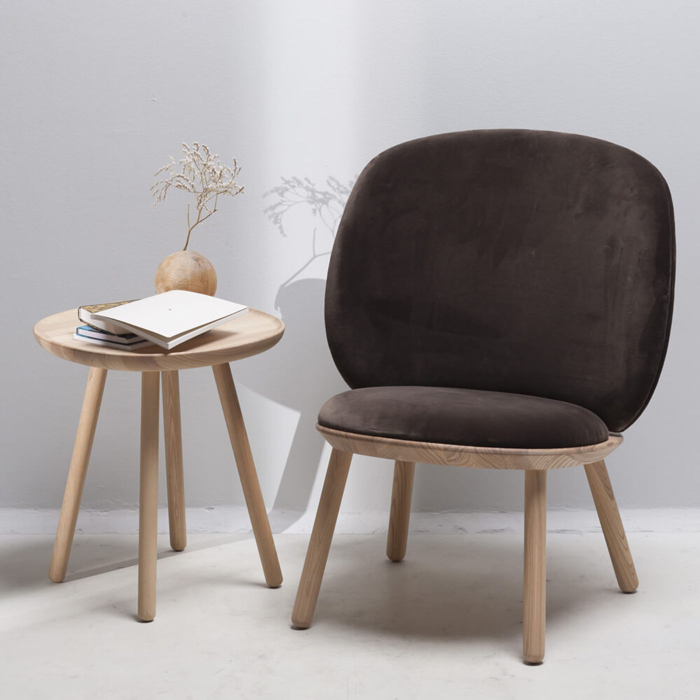 Oiled Ash/Brown Naive Low Chair   Bombinate