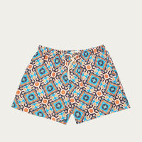 Orange and Blue Positano Micro Elastic Swim Short | Bombinate