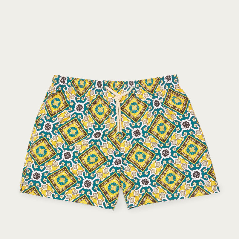 Yellow Positano Micro Elastic Swim Short | Bombinate