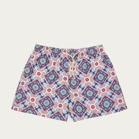 Red and Blue Positano Micro Elastic Swim Short | Bombinate