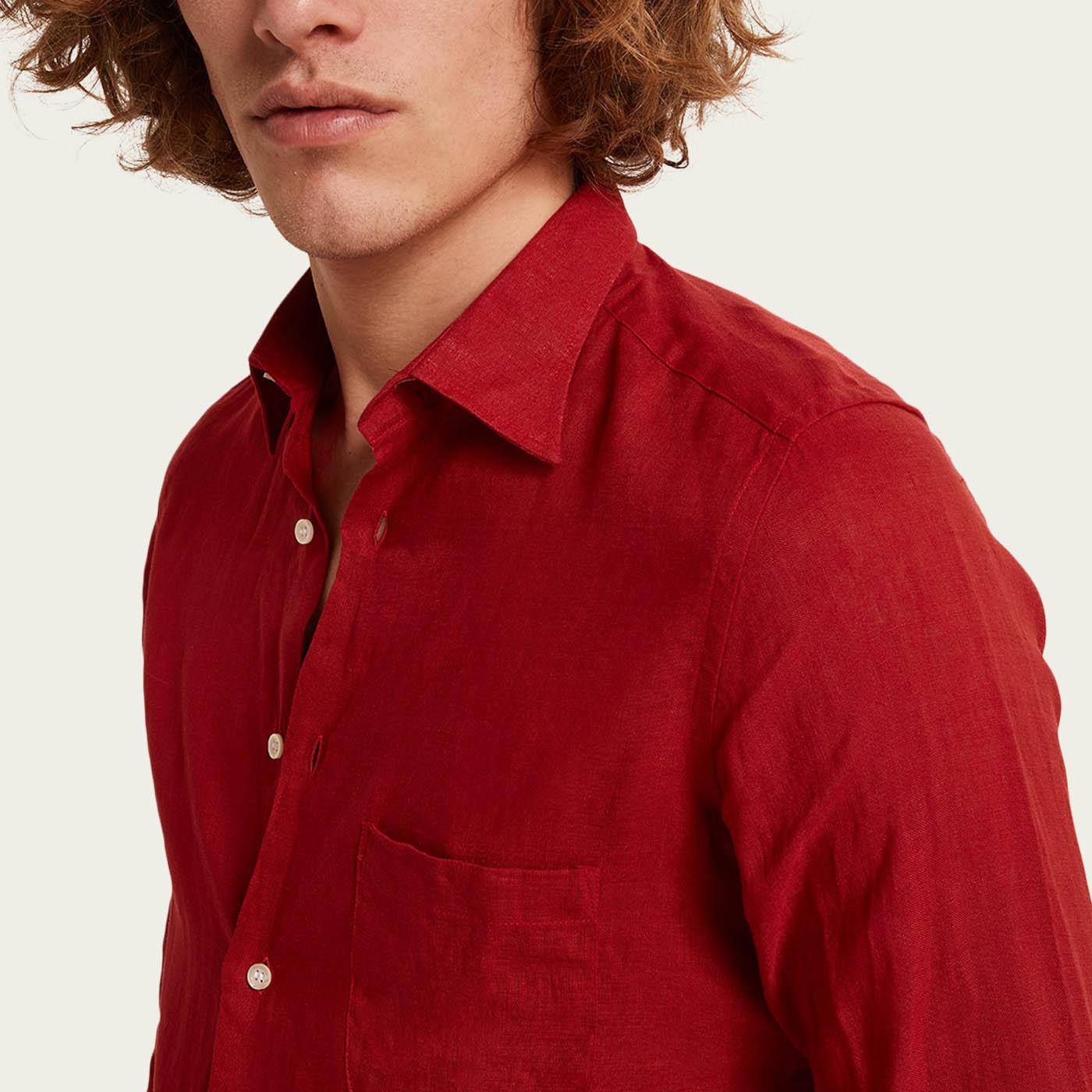 Rosso Isola Rossa Linen Shirt | Bombinate