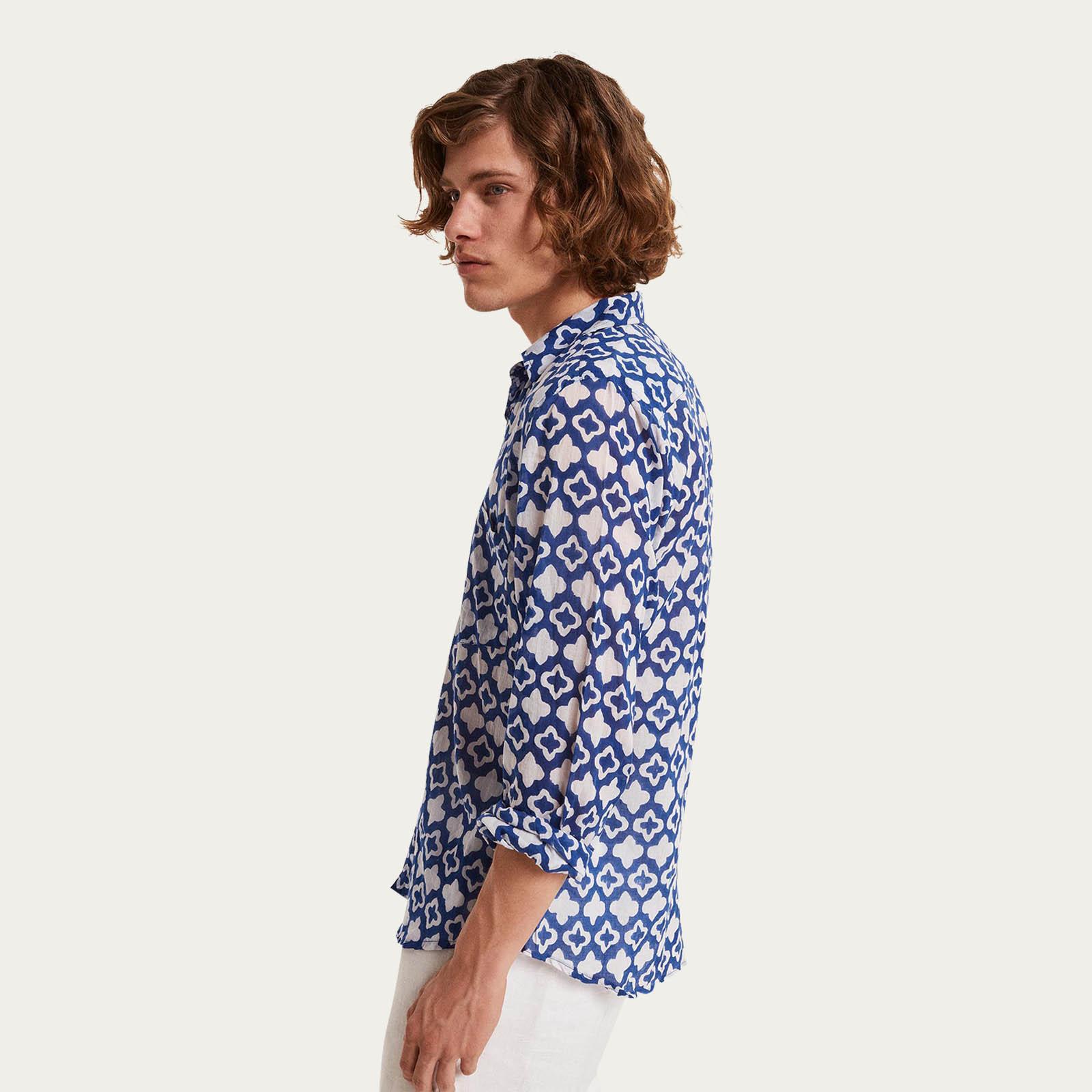 Spiaggia della Padulella Blu Linen Shirt  | Bombinate