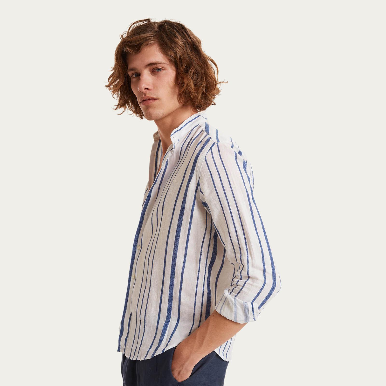 La Greca Linen Shirt  | Bombinate