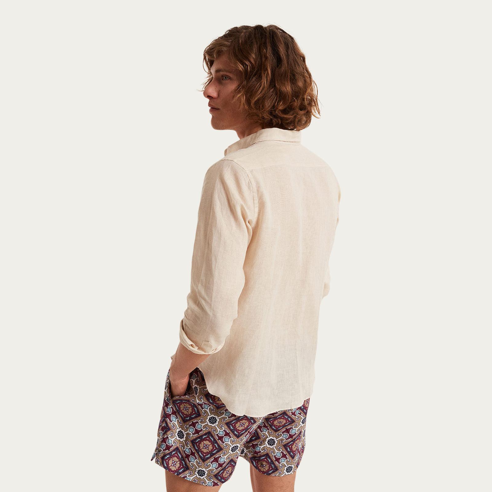 Spiaggia Lunga Pocket Linen Shirt  | Bombinate