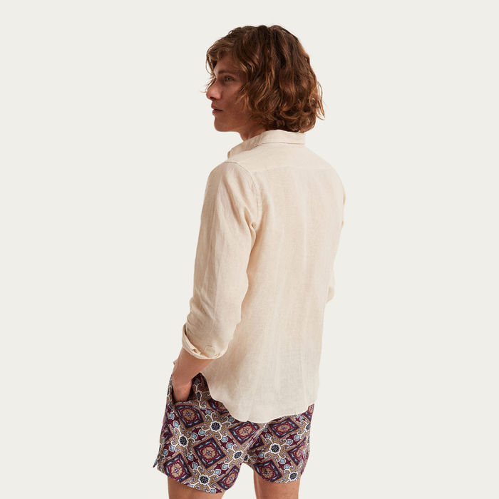 Spiaggia Lunga Pocket Linen Shirt    Bombinate