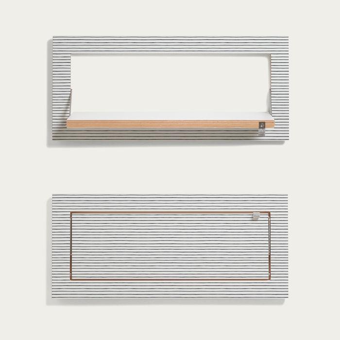 Watercolor Stripes Kind of Style Fläpps Shelf 60x27 | Bombinate