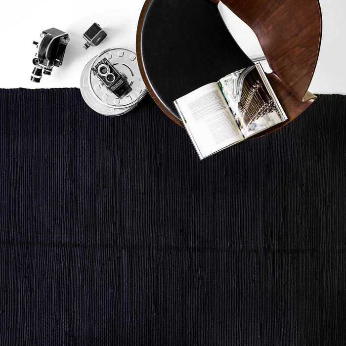 Black Cotton Rug | Bombinate