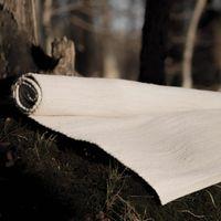 Desert White Cotton Rug | Bombinate