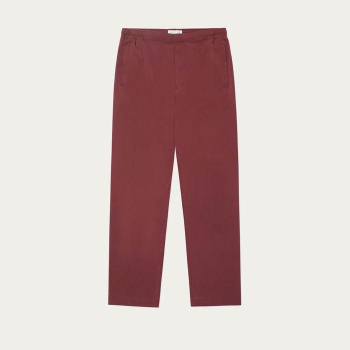 Burgundy Jersey Sleep Trouser | Bombinate