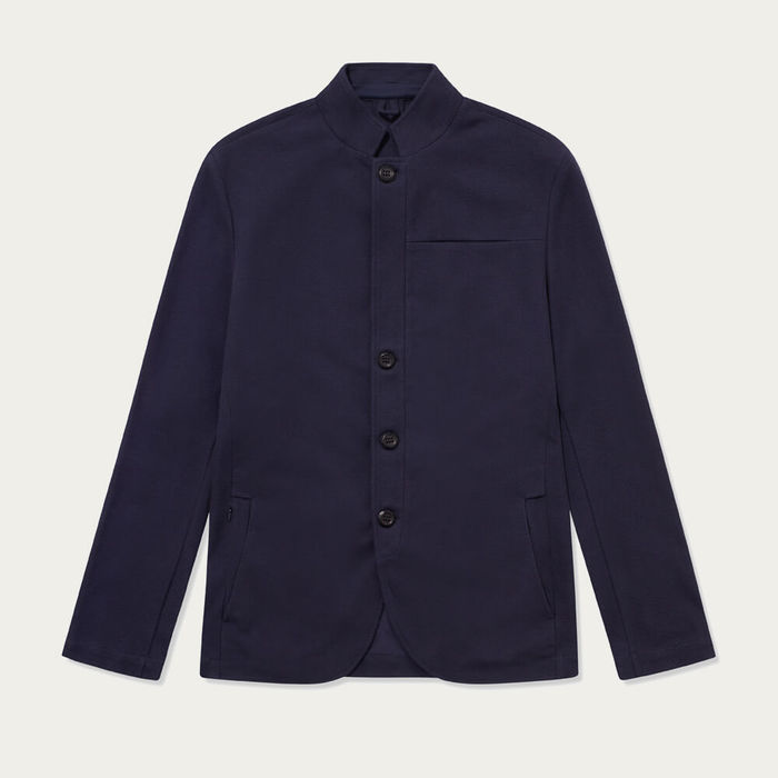 Navy Texture Journeyman Jacket | Bombinate