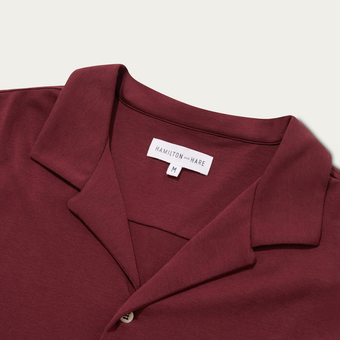 Burgundy Pyjama Long Sleeve Shirt | Bombinate