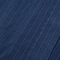 Navy Stripe Open Collar Long Sleeve Shirt   Bombinate