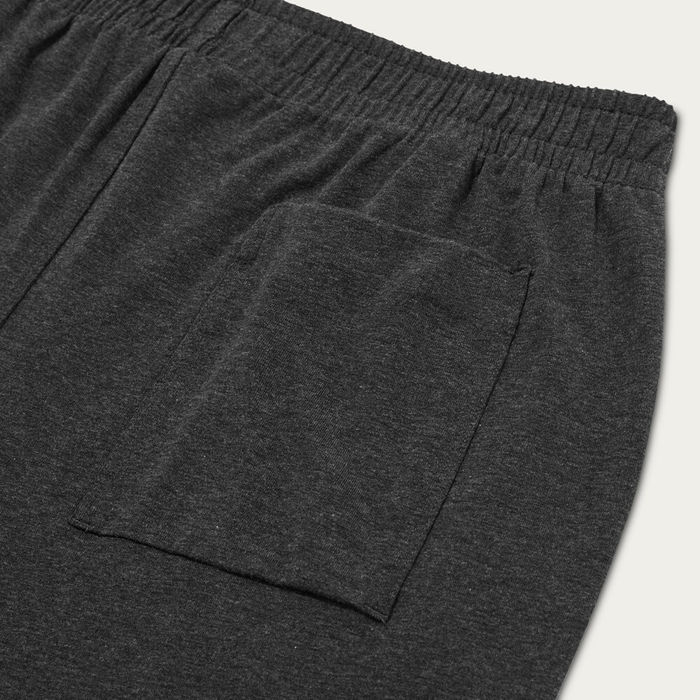 Charcoal Melange Jersey Sleep Short | Bombinate