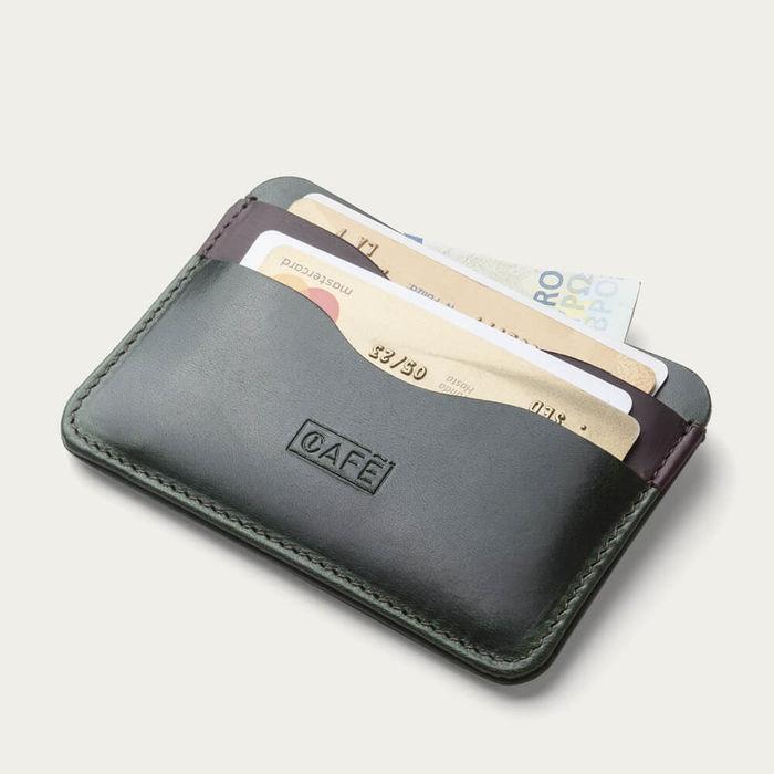 Forest Panama+ Leather Card Holder | Bombinate