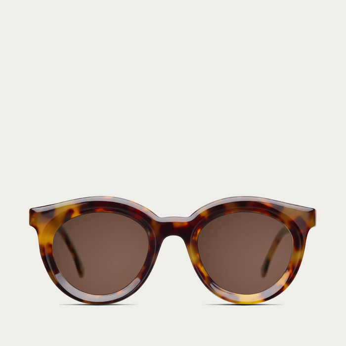 Beige Tortoise Vivid Sunglasses   Bombinate