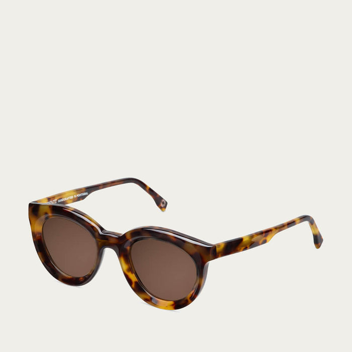 Beige Tortoise Vivid Sunglasses | Bombinate
