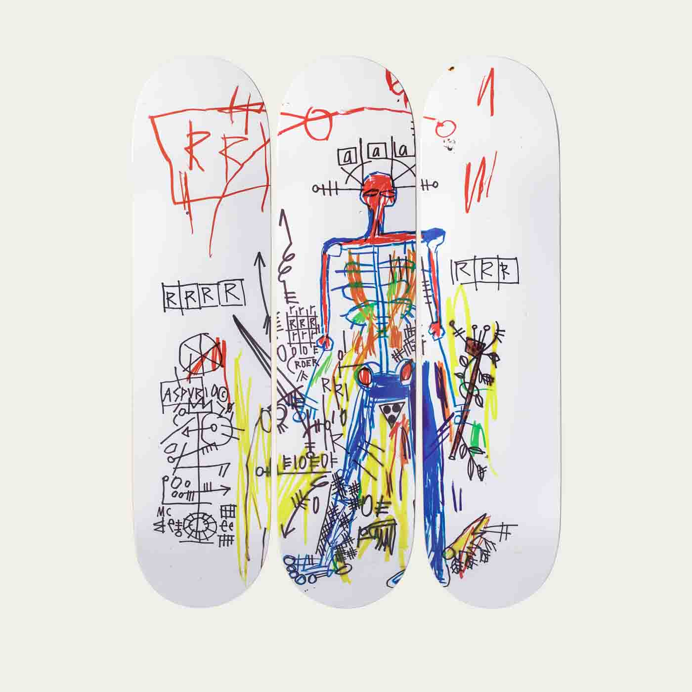 Robot set of 3 Basquiat  0