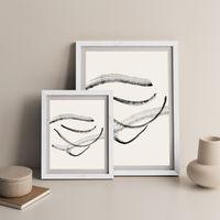 Currents 2 Art Print White Frame   Bombinate