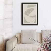 Flourish No 02 - Sand Art Print Black Frame | Bombinate
