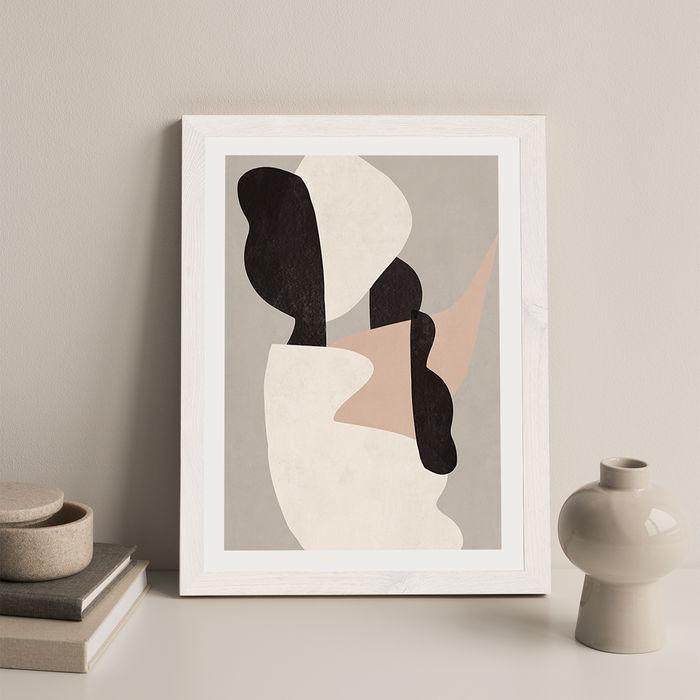 Interact No 1 Art Print White Frame | Bombinate