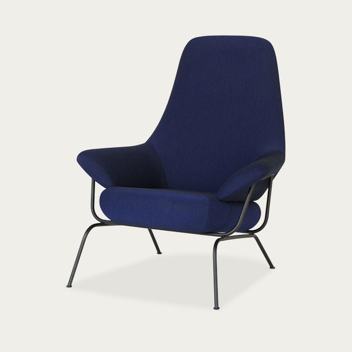 Dark Blue Hai Chair by Luca Nichetto | Bombinate