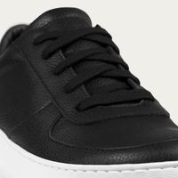 Black/White Clement Classic Tumbled Leather   Bombinate
