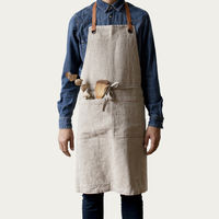 Natural Washed Linen Luxury Apron | Bombinate