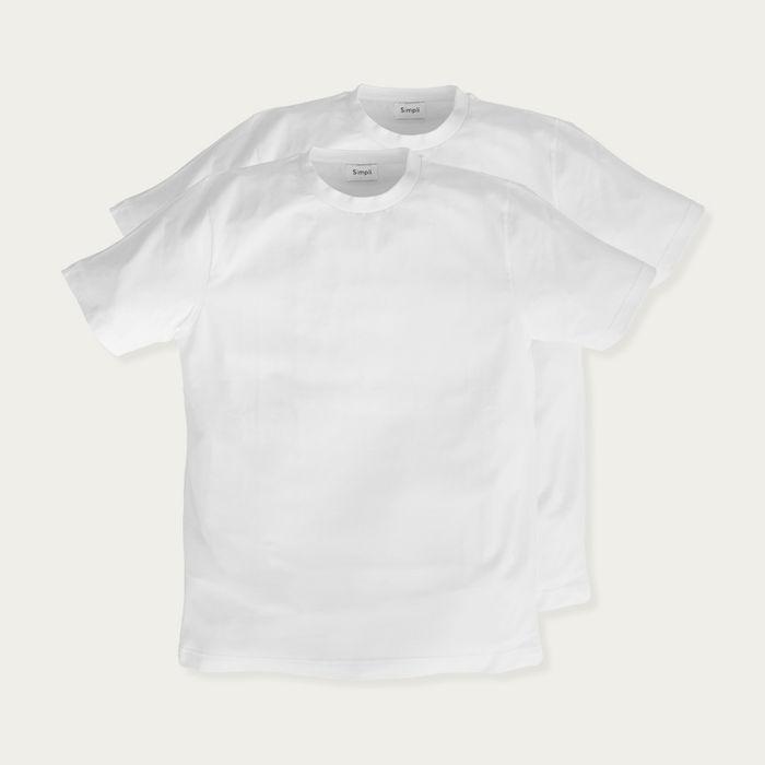 White T-Shirt - Pack of 2   Bombinate