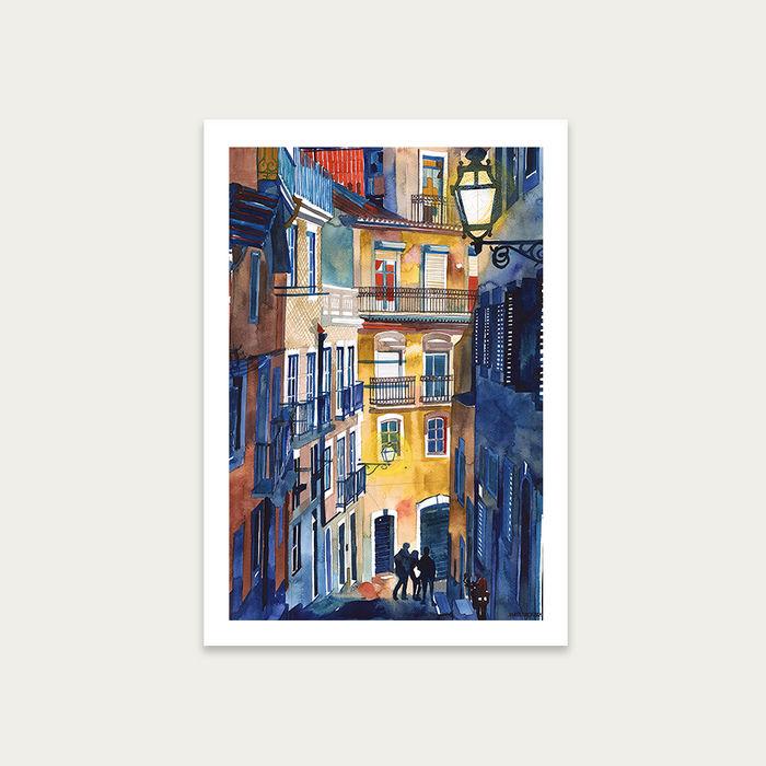 Lisbon Art Print Unframed   Bombinate